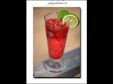 Strawberry Granita - Mocktail