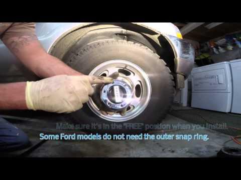 Warn locking hub swap Ford f250