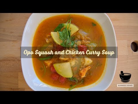 Opo Squash and Chicken Curry Soup (Myanmar Food)