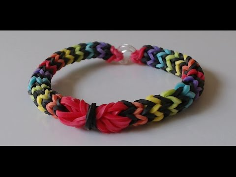 How to make a beautiful rainbow rubber band bracelet using just 2 forks (quick n easy)