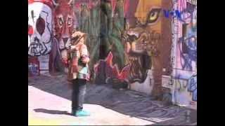 نقاشی دیواری یک زوج هنرمند ایرانی در کوچه کلاریون در سانفرانسیسکو
