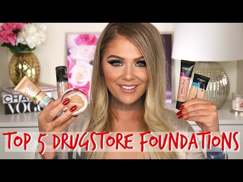 TOP 5 DRUGSTORE FOUNDATIONS 2017