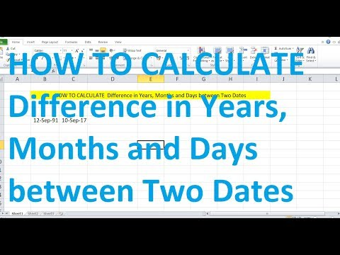 HOW TO CALCULATE  Difference in Years, Months and Days between Two Dates