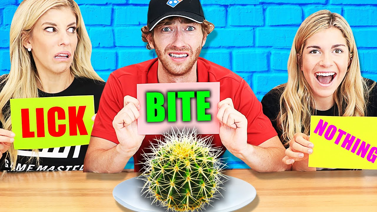 Extreme Bite, Lick Or Nothing Food Challenge to Find Missing Truth about RHS!