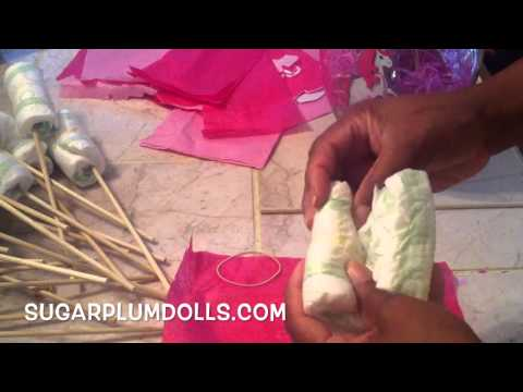 How to make a Baby Diaper Bouquet