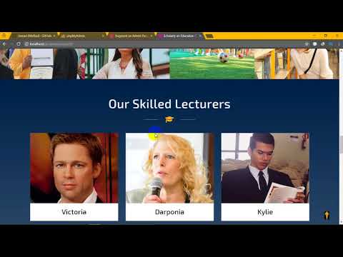 School Management System || PHP MYSQL || Bootstrap || HTML5 || CSS3 || JAVASCRIPT  || AJAX