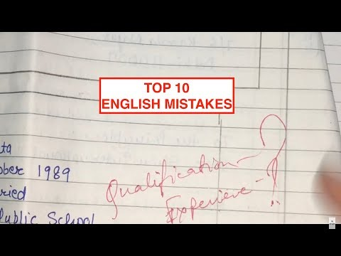 TOP 10 English Exam MISTAKES you should NOT DO in your English Board Exam CLASS-12