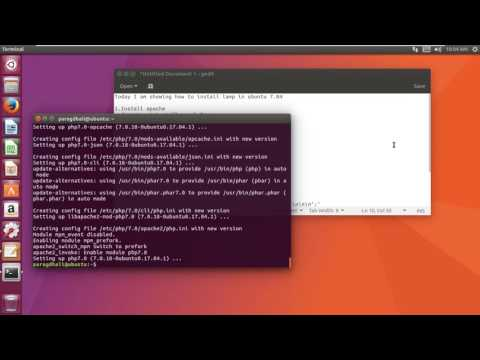 How to install LAMP server ( Linux - Apache - MySQL - PHP 7.0 ) on Ubuntu 17.04