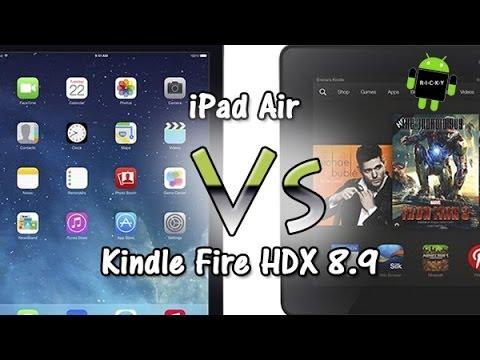 iPad Air vs Kindle Fire HDX 8.9 (Comparison)