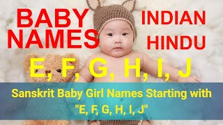 Indian Hindu Baby Names - Girl names starting with J