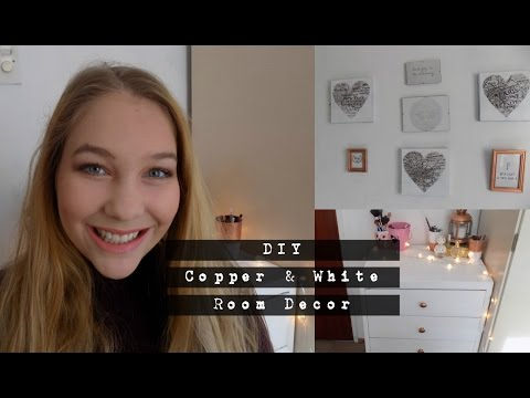 DIY Copper & White Room Decor | Olivia Howarth