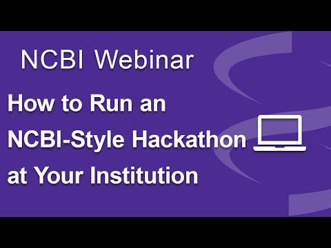 How to Run an NCBI-Style Hackathon at Your Institution