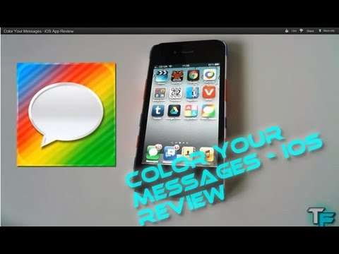 Color Your Messages - iOS App Review