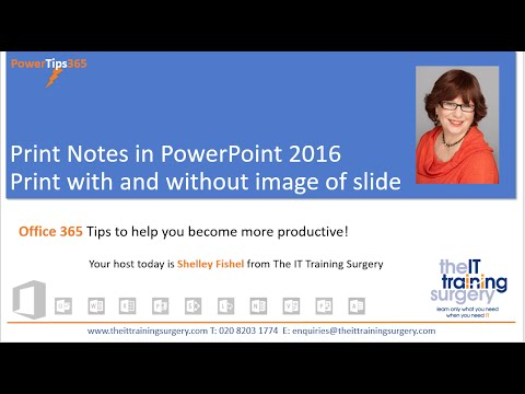 Print Notes In PowerPoint with and without the slide thumbnail