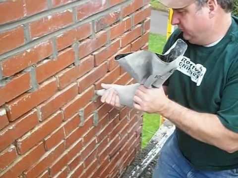 Repair of chimney mortar joints.