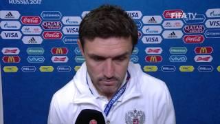 Yuri Zhirkov Post-Match Interview - Match 5: Russia v Portugal - FIFA Confederations Cup 2017