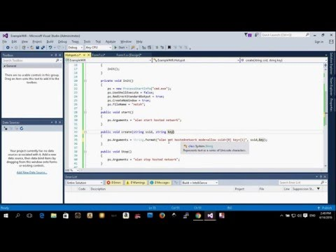 C# Application - How to create a Virtual WiFi Adapter or Hotspot (Part 1)