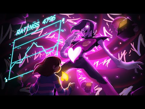 Undertale - Using the stick and eating instant noodles in Mettaton battle
