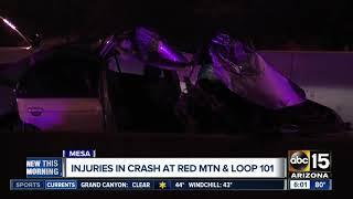 Loop 202 crash closes freeway for hours