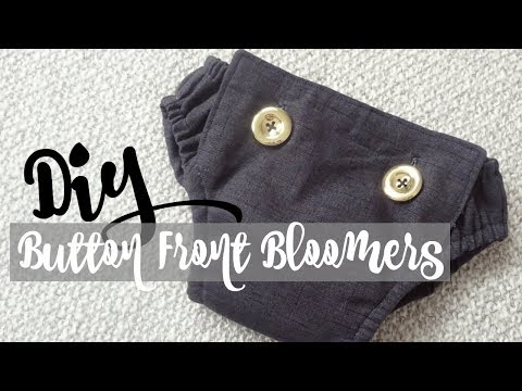 DIY Button Front Bloomers