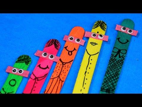 Ice Cream Stick Kids Craft - Popsicle Stick Puppets