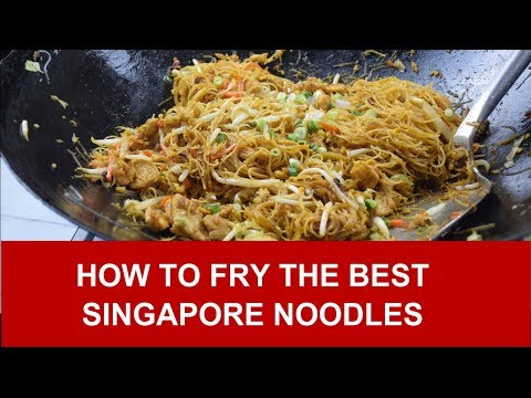 How to fry the best Singapore noodles (rice vermicelli)