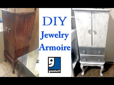 DIY Jewelry Armoire | $10 GOODWILL FIND