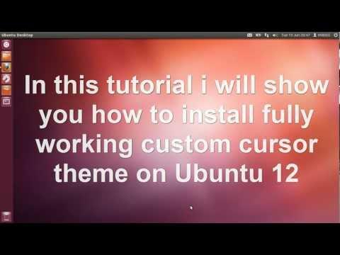 How To Change Cursors Theme On Ubuntu 12.4 HD