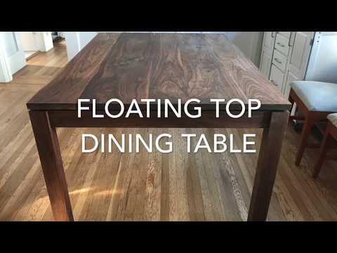 Making a Floating Top Dining Table (Walnut)