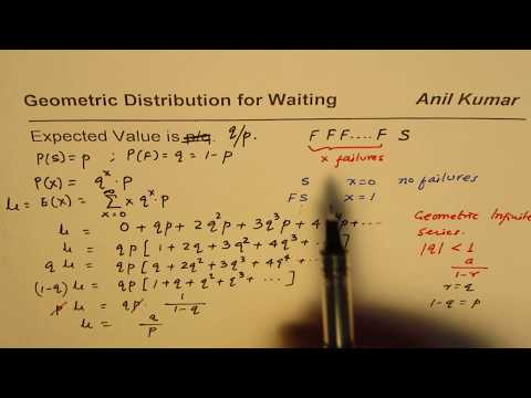 Expected Value Derivation Geometric Probability Distribution for Waiting