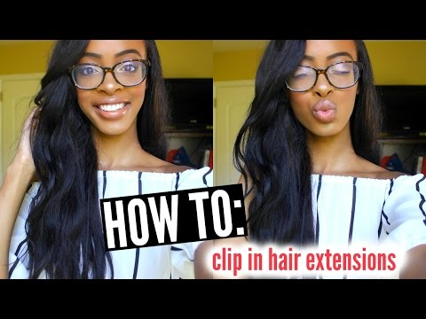 HOW TO: Clip In & Blend Hair Extensions With Short Hair • Lawenwoss
