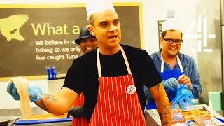 Robbie Williams Becomes A Supermarket Fishmonger | Alan Carr