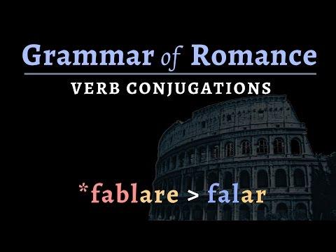 Romance Languages: conjugating verbs