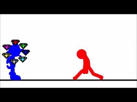 EPIC FIGHT[[SONIC VS JERICKO]]/FIRST STICK PIVOT ANIMATION