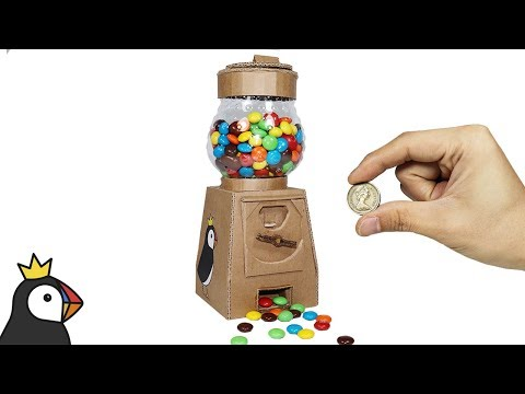 How to Make M&M GUMBALL MACHINE from Cardboard