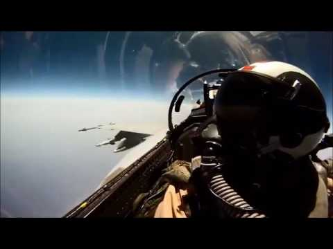 Pilot share the chocolate during flying the fighter jet
