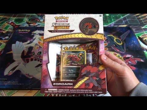 Pokemon Shining Legends Zoroark Pin Collection Opening