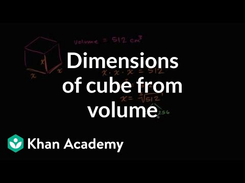 Dimensions of a cube from its volume | Numbers and operations | 8th grade | Khan Academy