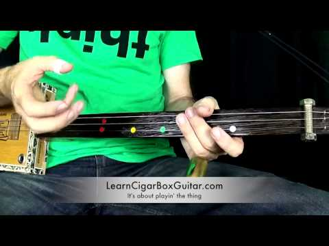How To Play a Blues Shuffle on a Cigar Box Guitar