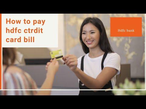 HDFC credit card bill pay