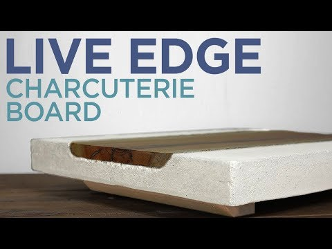 DIY Concrete Charcuterie Board with Live Edge Slab Inlay | 24 | The Cutting Bored