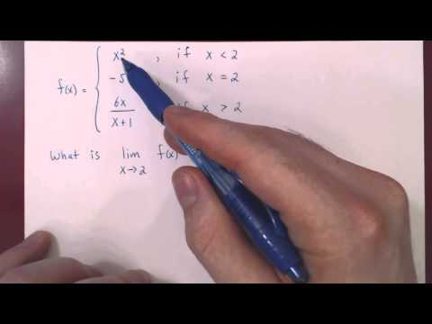 Limits - Piecewise Functions