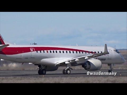 Test Plane Mitsubishi MRJ90 JA22MJ Slow Taxi