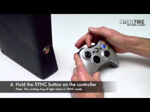 How to connect an Xbox 360 Wireless Controller to an Xbox 360