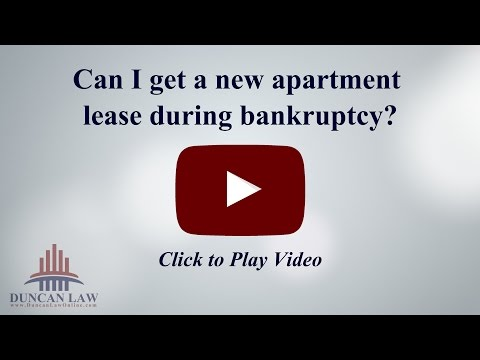Can I Get A New Apartment Lease During Bankruptcy?