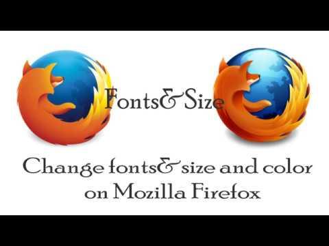 How to change fonts on firefox : Jinsi ya kubadilisha font size Mozilla