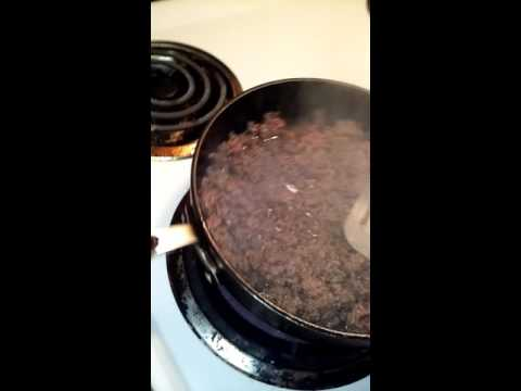 Browning ground beef for hamburger helper