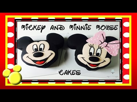 Mickey Mouse Cake AND Minnie Mouse CAKE! - How to make from Creative Cakes by Sharon