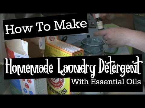How To Make Homemade Laundry Detergent with Essential Oils (Watch The Updated Version)