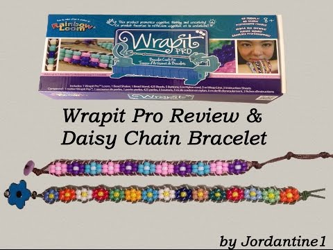 New Rainbow Loom Wrapit Pro Review & Daisy Chain Flower Beaded Bracelet Tutorial HD